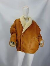 MONTONE SHEEPSKIN SHEARLING Cappotto Jacket Coat Giubbino Tg 54 Woman Donna G10