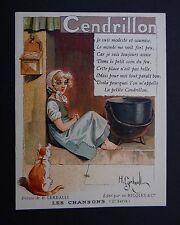 Chromo ALCOOL DE MENTHE RICQLES Cendrillon par H. GERBAULT Saint-Ouen Paris