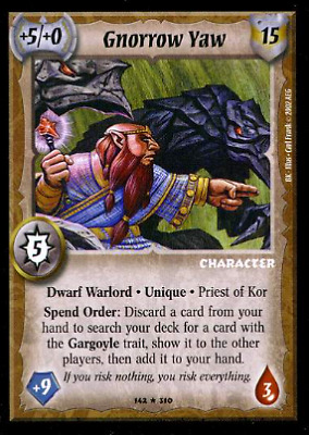 warlord ccg saga of the storm dwarf gnorow yaw ebay. Black Bedroom Furniture Sets. Home Design Ideas