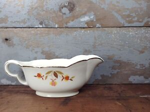 Vintage-Mary-Dunbar-Superior-Hall-Autumn-Leaf-China-Gravy-Boat-Serving-Holiday