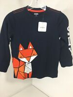 Gymboree Toddler Boys Sly Fox Long Sleeve T Shirt 4t Navy
