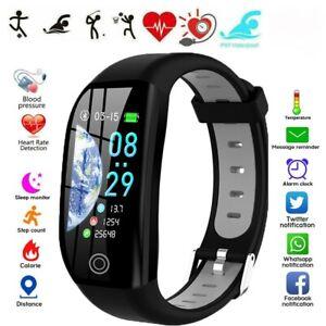 Für Samsung HUAWEI Smartwatch IP68 Sportuhr Armband Blutdruck Fitness Tracker