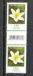 BUSCHWINDROSCHEN-Serie-Blumen-Bund-MiNr-3472R-500-grosse-Nr-Paar-mit-EAN