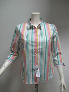 LACOSTE-camicia-donna-manica-3-4-art-CF2559-col-BIANCO-MULTIC-tg-48-estate-2011