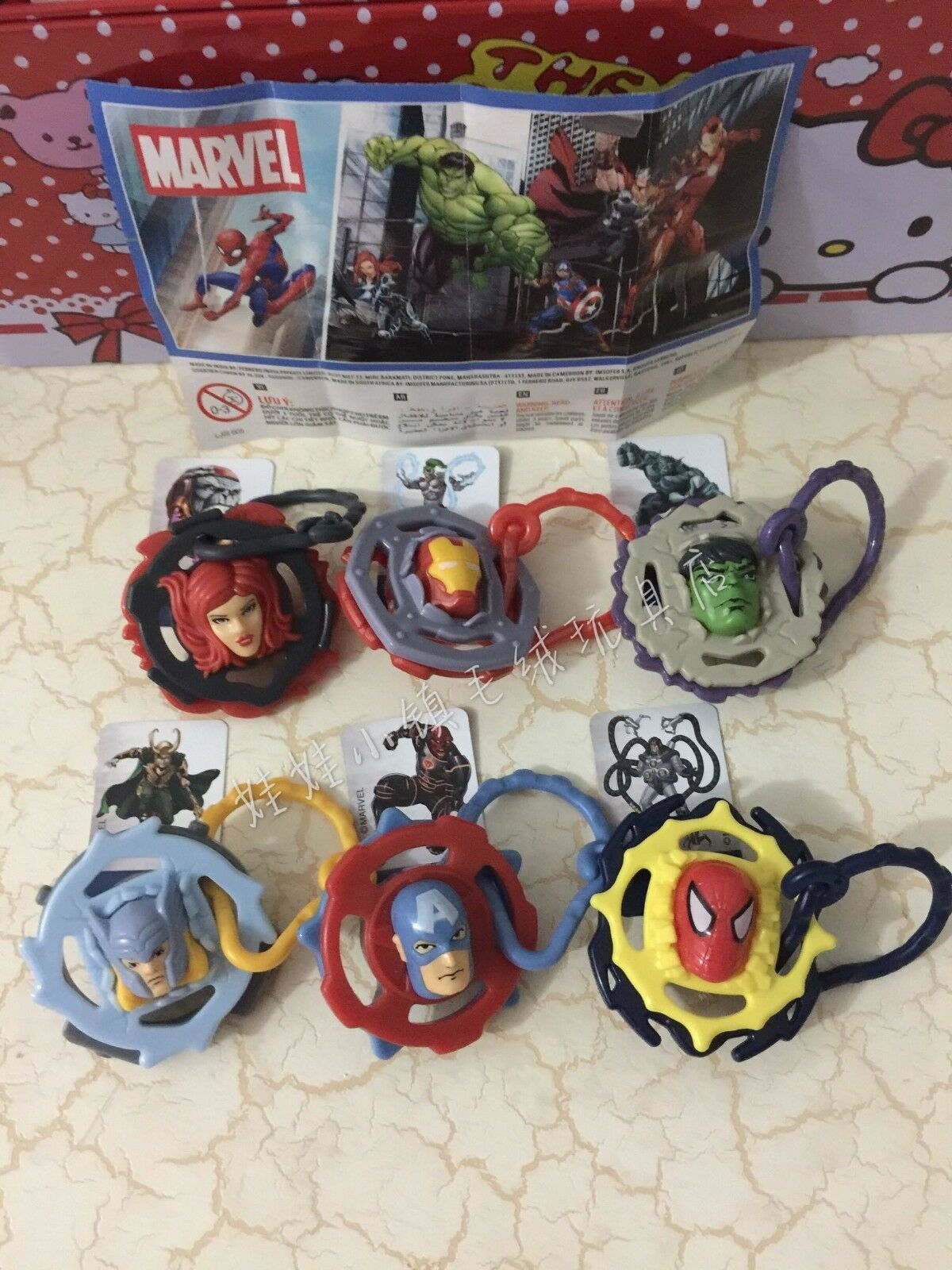 Kinder Surprise Marvel Spiderman Avengers Set 6 BPZ Boys Toys INDIA 2017 RARE