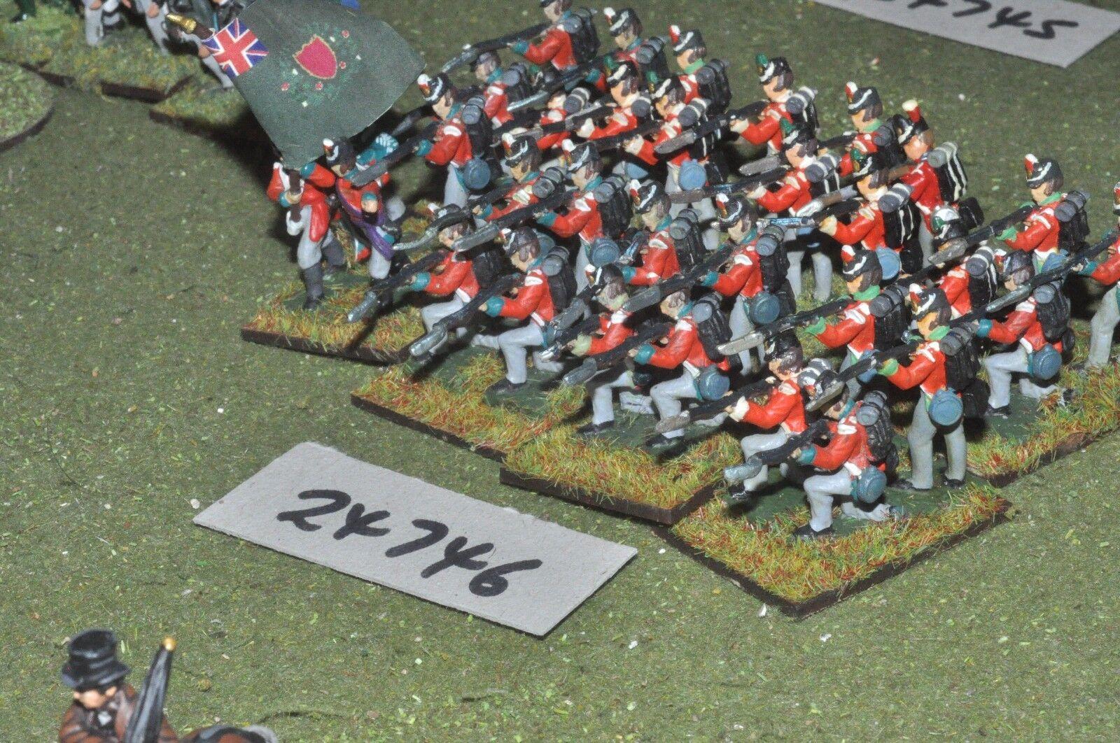 25mm napoleonic   british - regiment 32 figures - inf (24746)