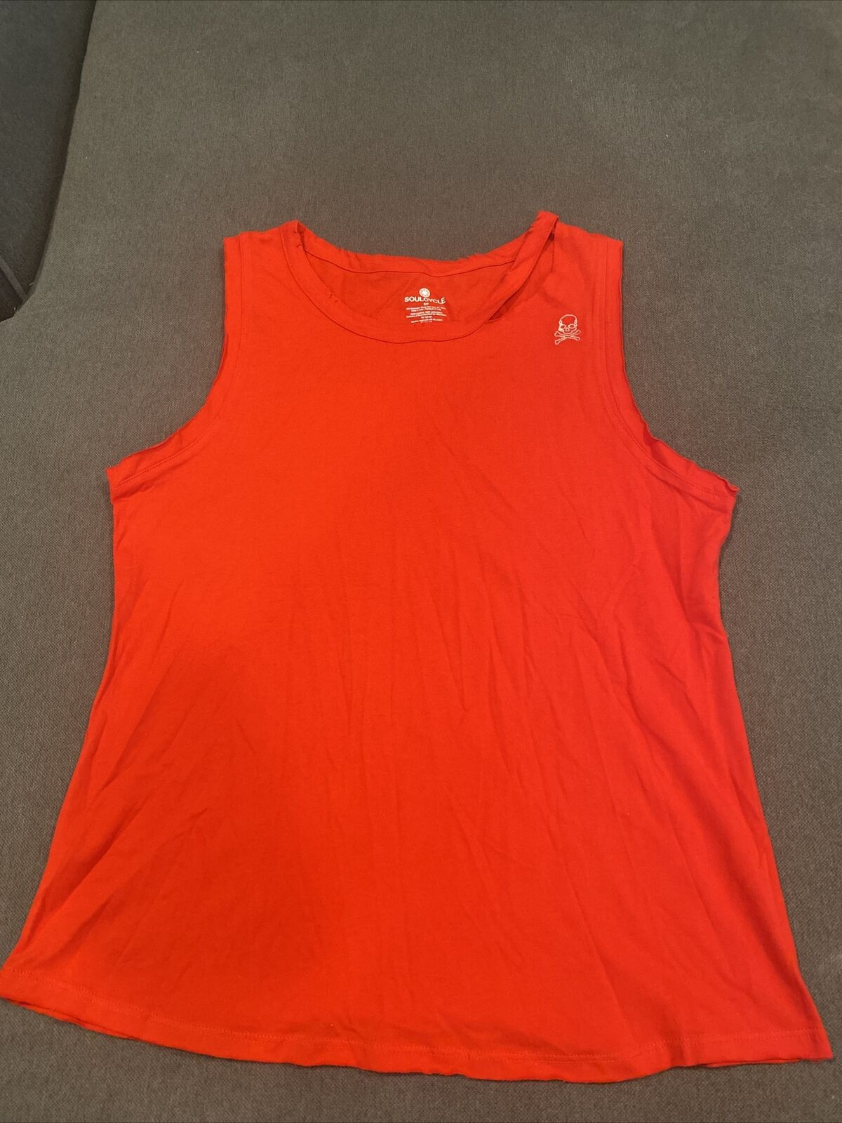 Soul Cycle Size Medium Ride And Shine Star Red Muscle Sleeveless Tank Top