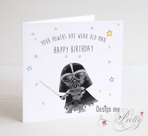 Image Is Loading STAR WARS DARTH VADER Birthday Card Father Son