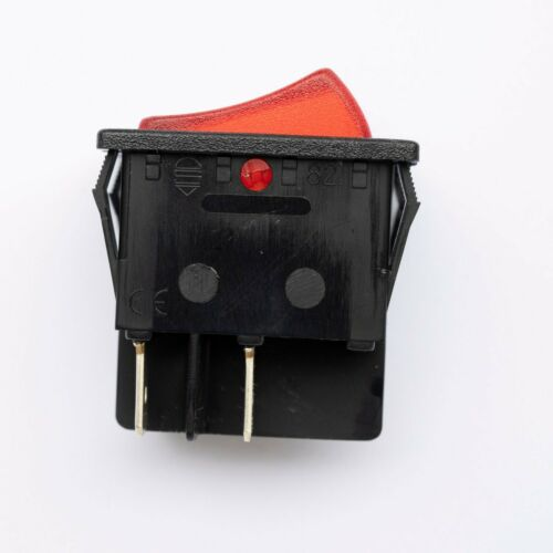 20 AMP WHITE// RED ROCKER SWITCH POWER ON OFF DOUBLE POLE 4 PIN Made in EU