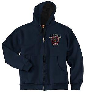 Chicago Fire Department Cross Axe Full Zip Hooded Sweatshirt As Seen On TV