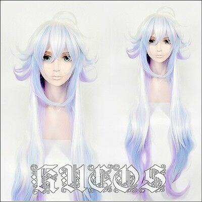 FGO fate grand order Merlin Ambrosius gradient Cosplay costume Wig 80cm/31''