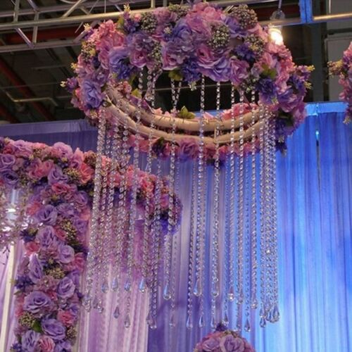 Crystal Transaperant Bead String Hanging Pendants Party Door Curtain 10M #LK3