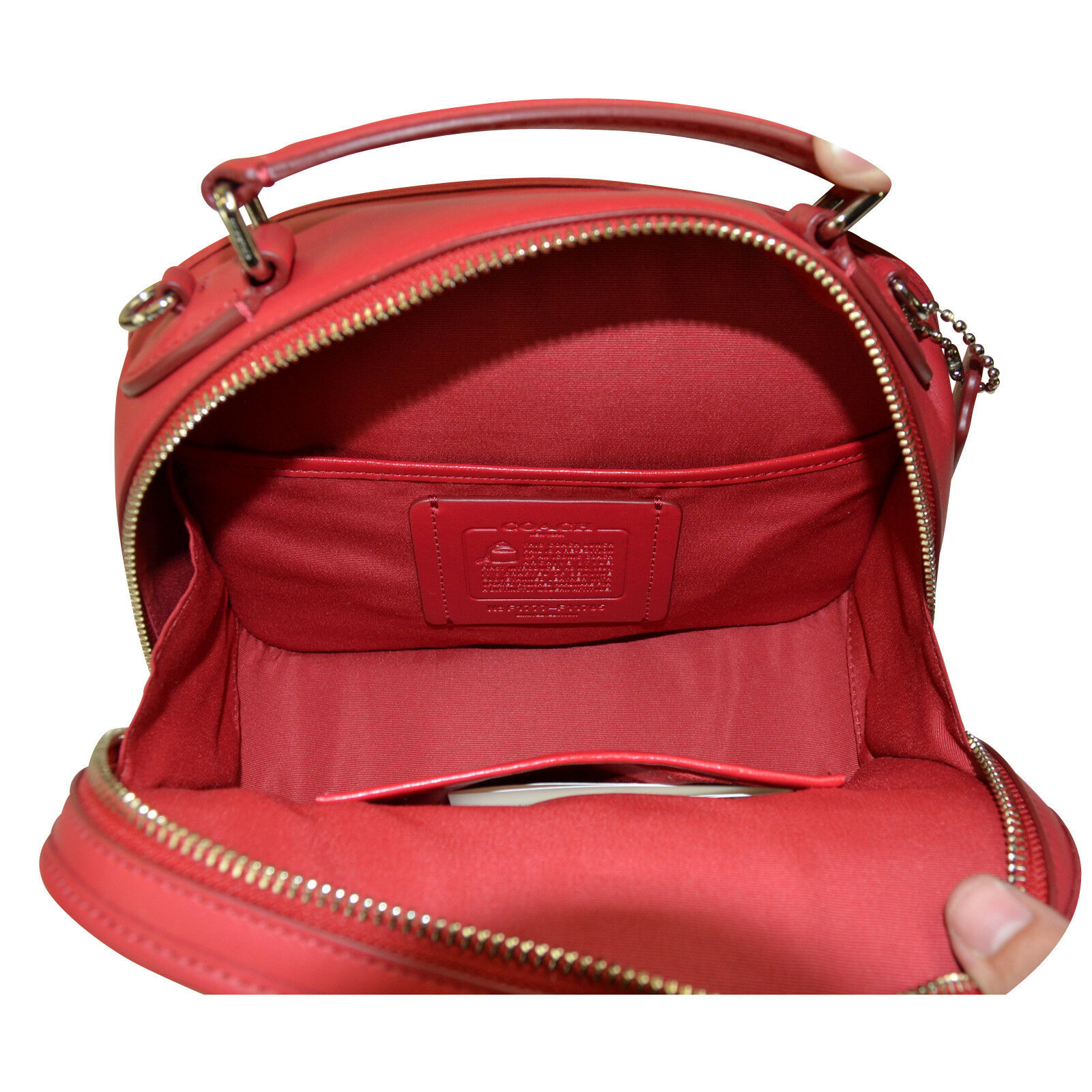 9a5b487b4eaa Coach F11785 Sv true Red Lunch Pail in Retro Smooth Calf Leather for sale  online
