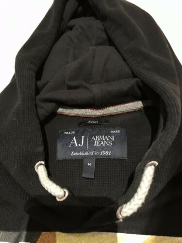Black Hoodie Medium Jeans Maat Sweatshirt Armani w6q5nWUEx