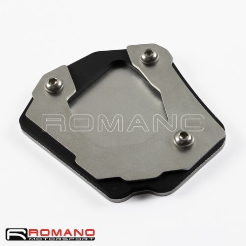 Silver Side Kick Foot Stand Kickstand Extension Foot Plate Fit BMW F800GS F650GS