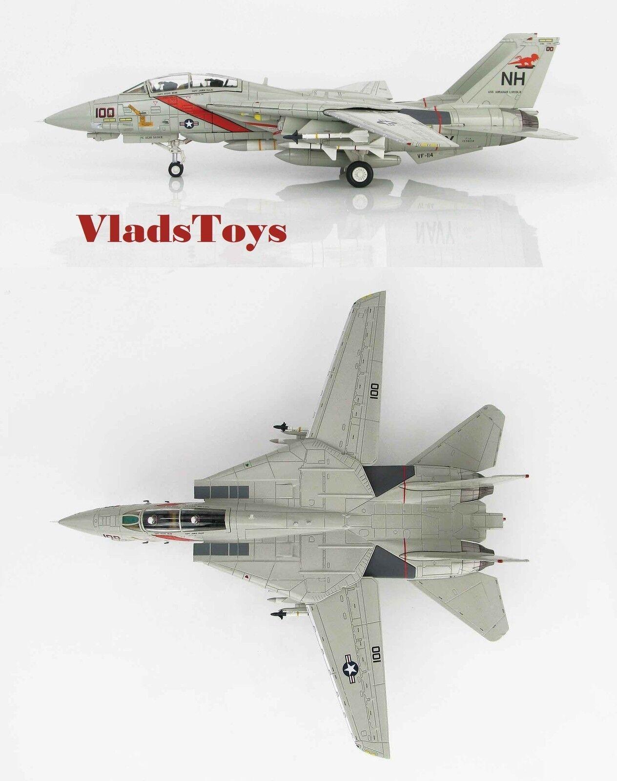 Hobby Master 1:72 F-14A Tomcat VF-114 Aardvarks NH100 Uss Abraham Lincoln HA5216