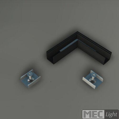 12x12mm silber,weiß,schwarz 1m ALU-Profil SMART-10 inkl Abdeckung