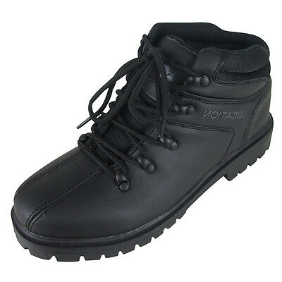 Jungen Leder Schule Wanderer Schwarz Stiefel Location Stiefeletten Kinderschuhe