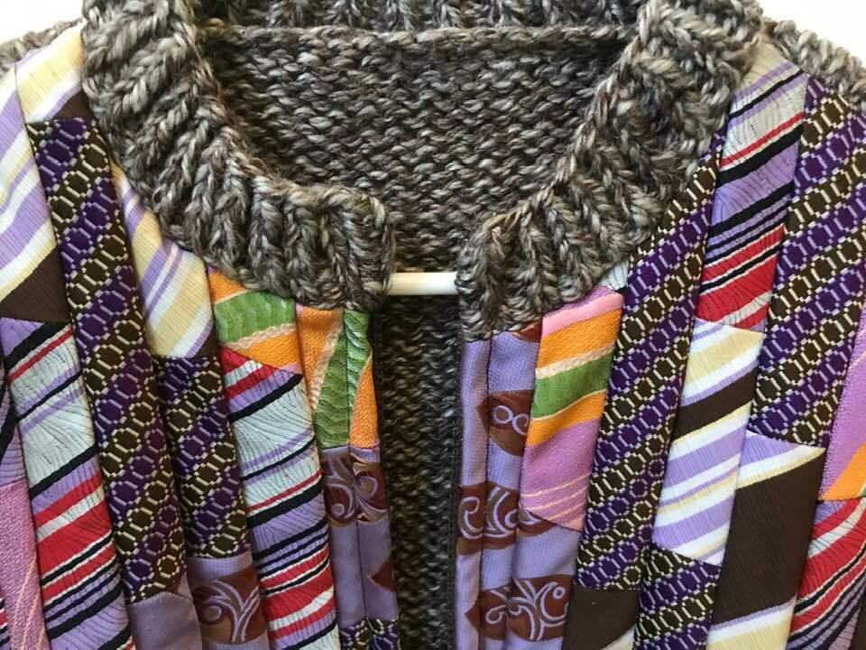 Chaqueta de punto caliente lana de mujer con cremallera  único Corbata Marrón blancoo Tejido a Mano Nuevo Sin Etiquetas Nuevo  Con 100% de calidad y servicio de% 100.