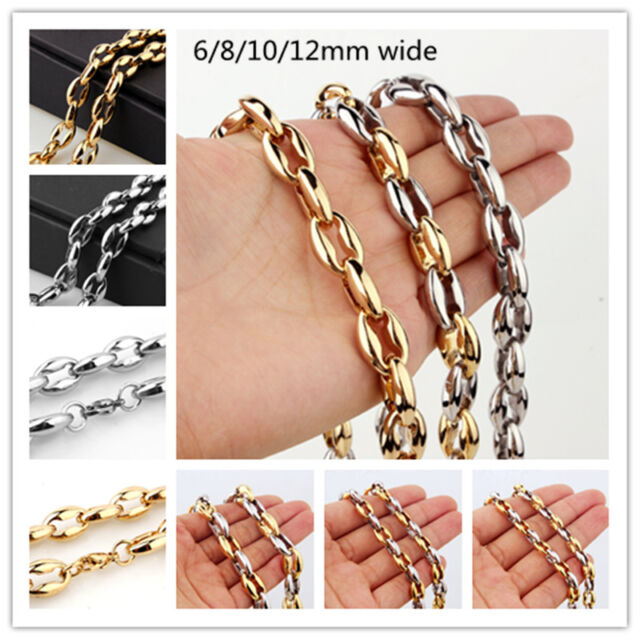 """7-40/""""Stainless Steel Heavy Charming Men/'s Jewelry Silver 8mm Rope Chain Necklace"""