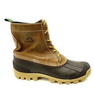 6e79652be20 Details about Kamik Mens Yukon 6 Waterproof Insulated Winter Boots Casual  Duck Boots Size 12