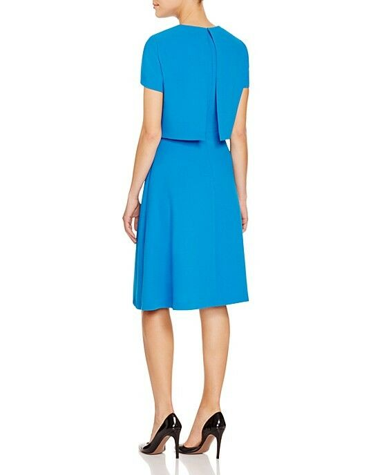 NWT BOSS by Hugo Boss Dicenda Popover Dress Dress Dress Layered Look Turquoise  575 – 2 cf08a6