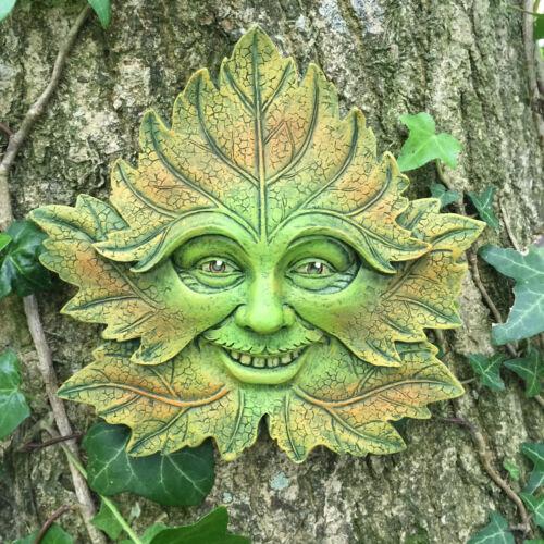 VERDE foresta Greenman Garden targa sul muro Outdoor celtica pagane decorativo 09070