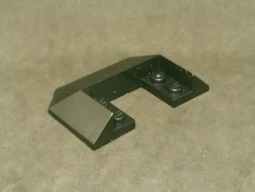 Train Roof - Black x1 Lego Slope 45° 6x4 Double // 33° 13269