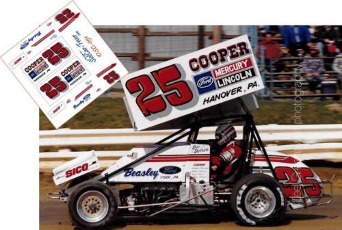 CD/_SC/_051 #25 Dan Dietrich  Ford Sprint Car   1:24 DECALS