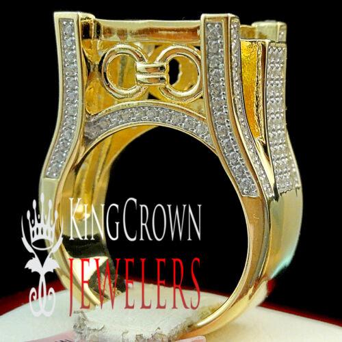 GENUINE SILVER 14K YELLOW GOLD FINISH LADIES BRIDAL WEDDING ENGAGEMENT RING BAND
