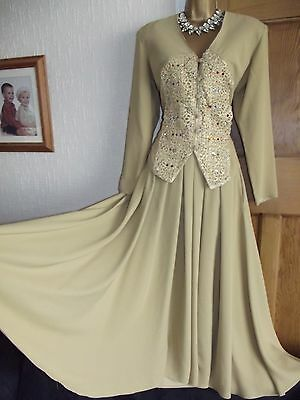 GORGEOUS ❤️ Vintage Wallis Exclusive Suit Set Indian Evening Wedding Size 10 12