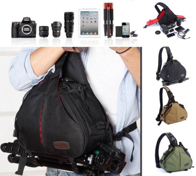 New DSLR Camera Carry Bag Lens Case for Canon EOS 1100D 6D 7D 600D Kiss X5 X6i
