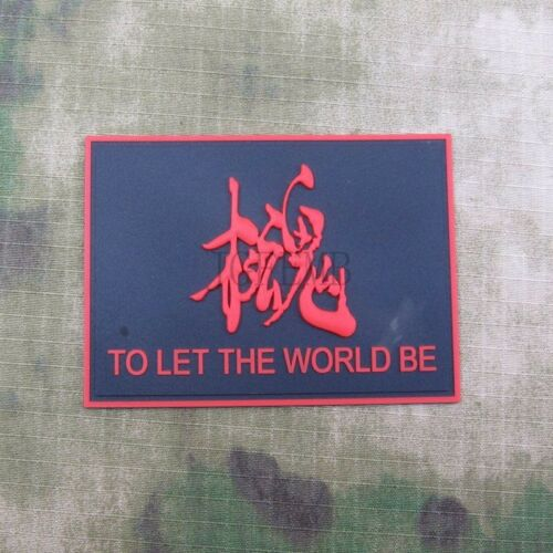 MGS Metal Gear Solid Snake TO LET THE WORLD BE Morale 3D PVC Patch