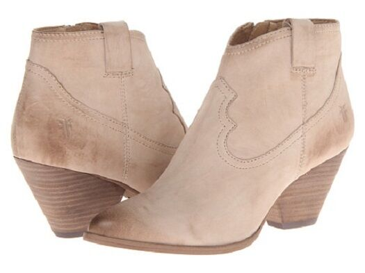 New in Box Woemns Frye Reina Bootie Boots Boots Boots Stone Buffed Nubuck Size 10 5b3188