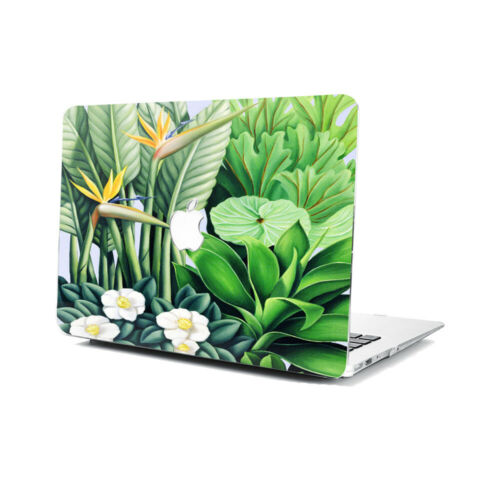 """Green Plant Hard Rubberized Case Cover For Apple Macbook Air 11 13/"""" 15/"""" Retina"""