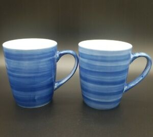 JCP-Home-Denim-Navy-Blue-Striped-Nautical-Farmhouse-Ceramic-Coffee-Mug-Cup-Pair