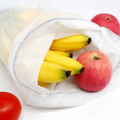 18 Pack Reusable Produce Bags Mesh Vegetable Fruit Toys Storage Shopping Bag CA