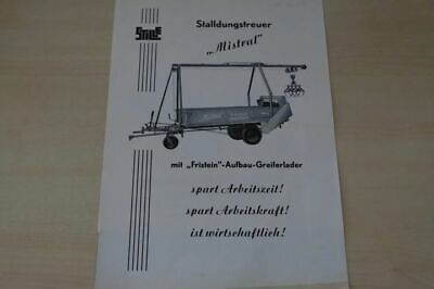 197849) F. Stille - Stalldungstreuer Mistral - Prospekt 195?