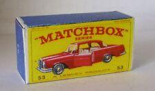 Repro Box Matchbox 1:75 Nr.53 Mercedes Benz Coupe neuer