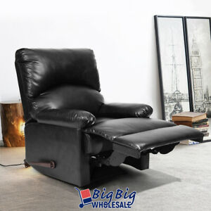 Recliner Chair Single Black Reclining Sofa Living Room Theater Home Furniture