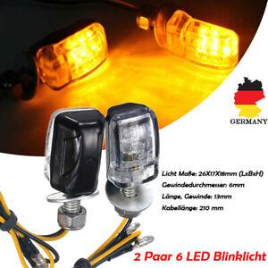 4x-LED-Motorrad-Mini-Blinker-12V-Sequentiell-Lauflicht-E8-Pruefzeichen-ATV-DHL