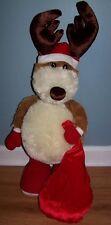 """Large (28"""") Russ Santa Reindeer"""