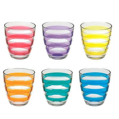 Verde Lime Pasabahce Set di 6 Bicchieri per Acqua e Succo di Frutta 280 ml Colore