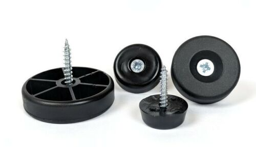 Screw in Furniture Feet Plastic Floor Protector Pad Chair Glides Made in Germany
