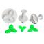 3pcs Holly Leaf Cake Cookie Sugarcraft Fondant Decor Plunger Cutters Mould