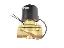 """DC12V Elektro Magnetventil Ventil Electric Solenoid Valve 1/2"""" Air Water Gas"""