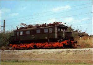 EISENBAHN-Motiv-Postkarte-E-Lok-Lokomotive-Baureihe-244-Verkehrsmuseum-Dresden
