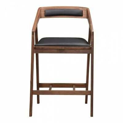 Moe S Padma 26 Mid Century Counter Stool In Brown And Black 849043007238 Ebay
