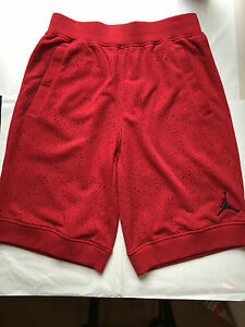 6d587a535ed94f NEW Nike Air Jordan PAINT SPLATTER Men s Small Shorts Red Black BRED ...