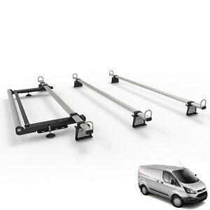 Roof-Rack-for-FORD-TRANSIT-CUSTOM-VAN-WorkReady-3-Bar-Set-With-Rear-Roller-Kit